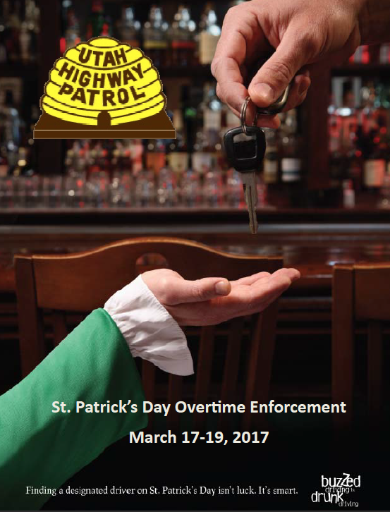 Screen cap of cover of St. Patrick's Day DUI report