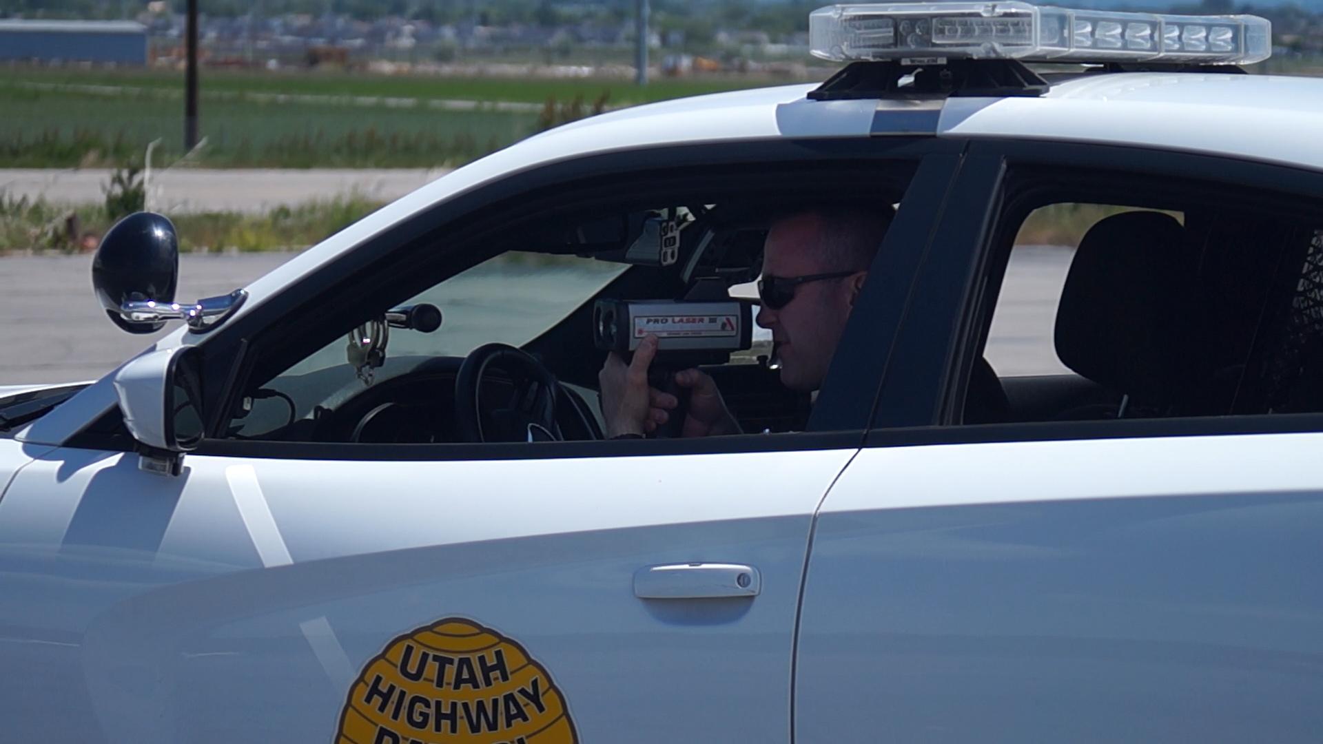 UHP trooper using lidar