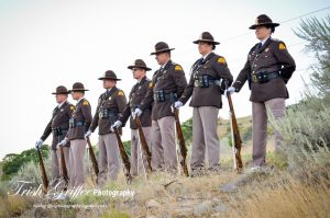 UHP Honor Guard members standing at ease.