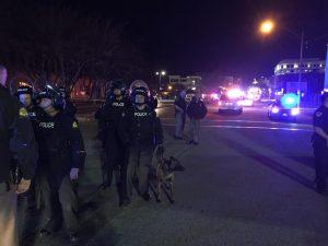 Members of the PPU in Salt Lake City at night