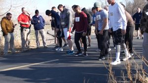 Candidates for UHP prepare for the 1.5 mile timed run