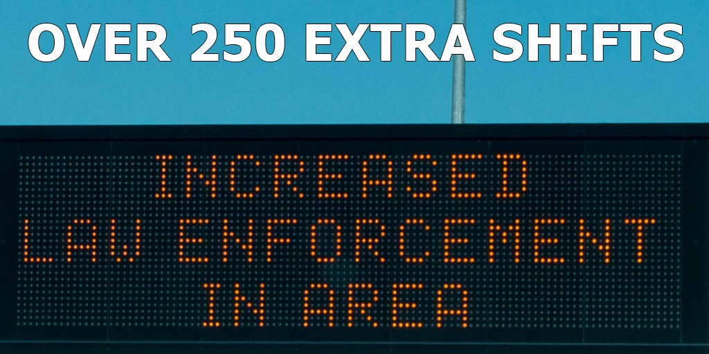 Troopers will work over 250 extra shifts this weekend,