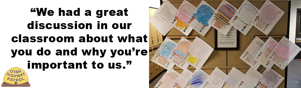 Students from Longview Elementary sent troopers letters of gratitude.