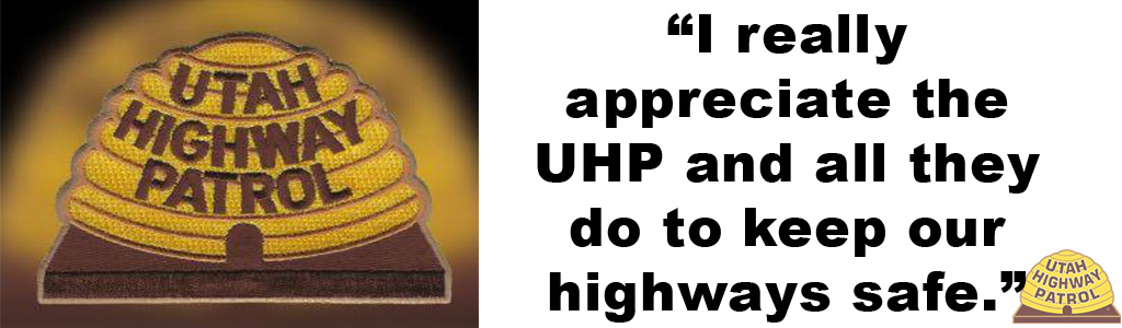 "Tile shows an image of the UHP patch and the text reads ""I really appreciate the UHP and all they do to keep our highways safe."""
