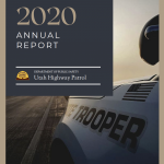 Image shows a close up of the front drivers side of a UHP vehicle looking forward and text reads 2020 Annual Report